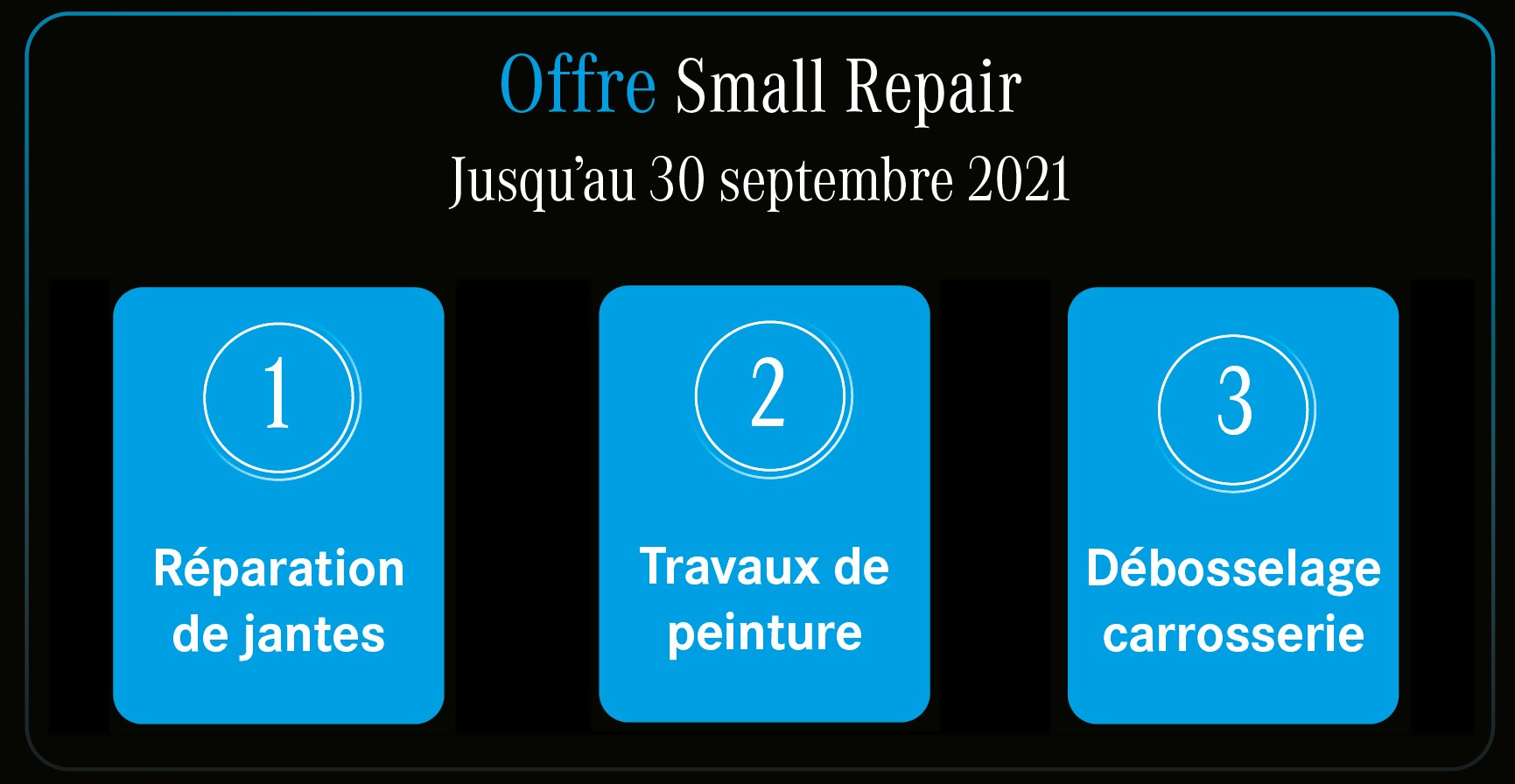 Offre small repair Mercedes-Benz